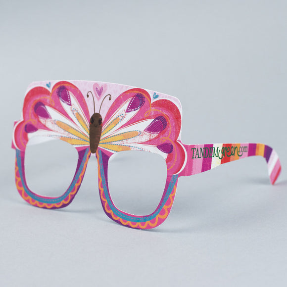 Butterfly Birthday Card Glasses