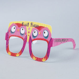 Owl Birthday Card Glasses