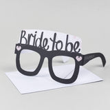 Hen Party Bride to Be Card Glasses