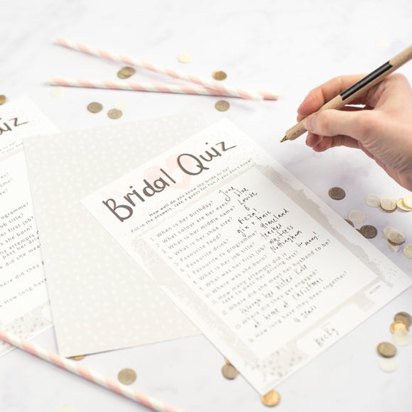 Bride to be Quiz Party Game