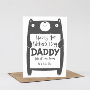 Personalised 1st Father's Day card