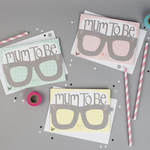 Baby Shower Mum to Be Card Glasses