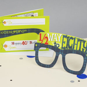 40th Birthday Card Glasses for him