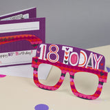 18th Birthday Card Glasses for her