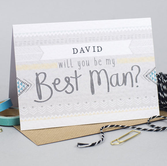 Personalised Will you be my Best Man card