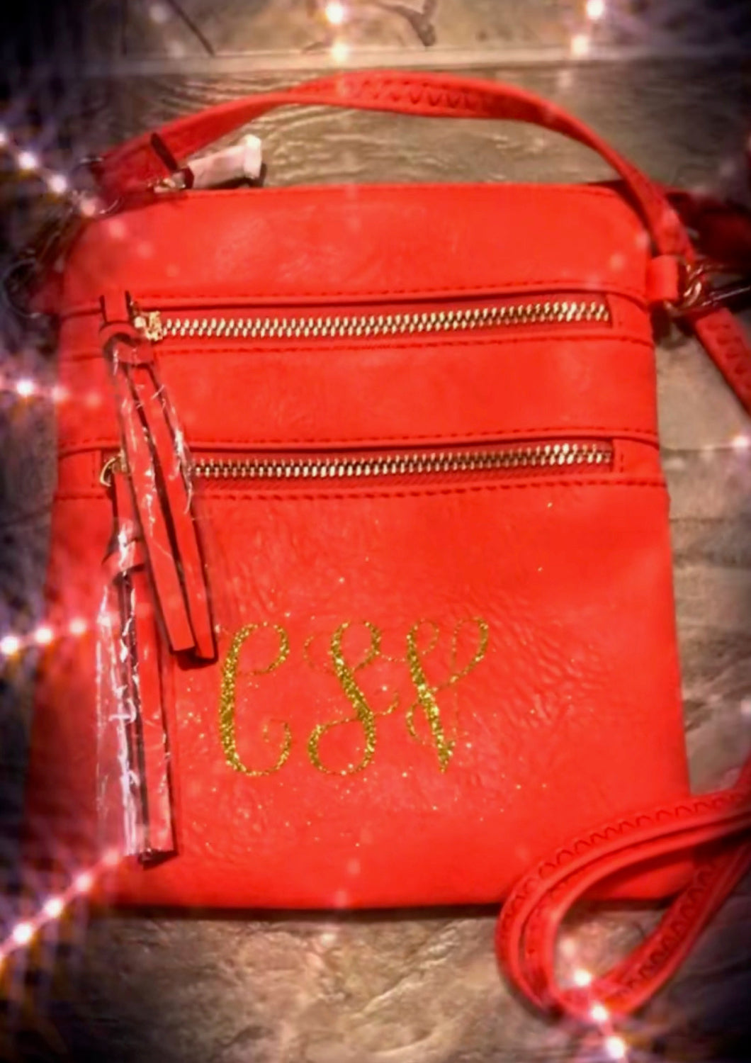 Customized Faux Leather Cross Body Bag