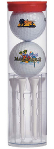 Wilson Two Ball Tube With Golf Tee