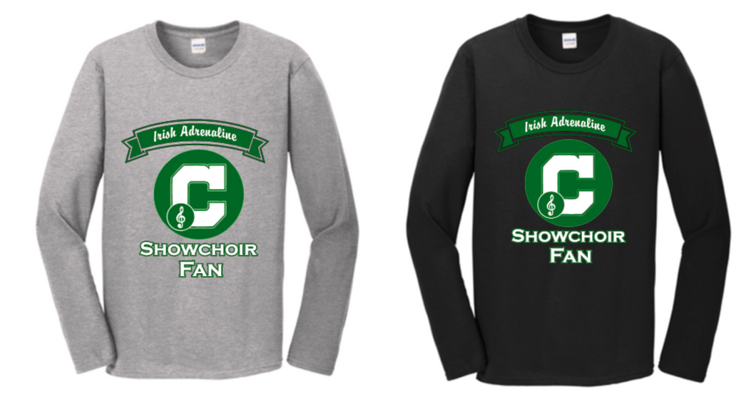 Solid Two Color Long Sleeve Adrenaline Fan Tee