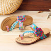 Genuine Leather Adjustable Hook Loop Comfortable Flat Sandals