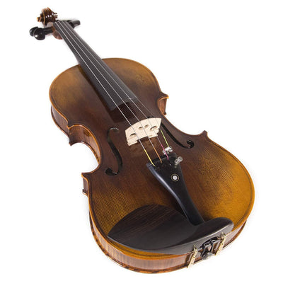 Back Solidwood Violin with  Strings(Full Size)