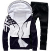 With Velvet Warm European Breathable Men's Sports Suit