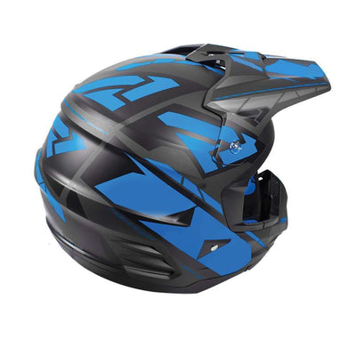 Lightweight Snowmobile Racing Helmet - Black/Blue