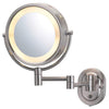 8-Inch Lighted Wall Mount Makeup Mirror