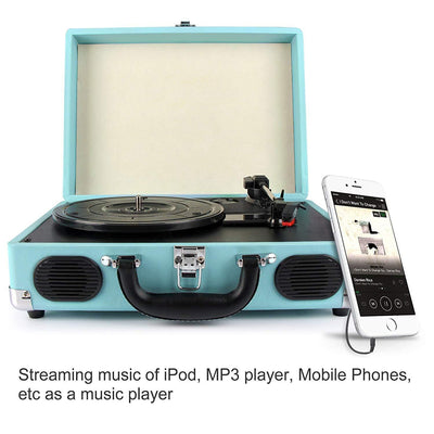 Lightweight Portable Stereo Turntable