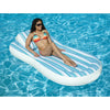 Striped Inflatable Floating Swimming Pool Mattress