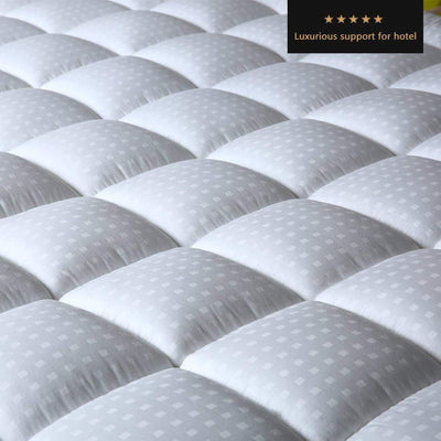 100% Cotton Fitted Quilted Mattress Pad