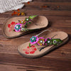 Forest Handmade Genuine Leather Slip On Clip Toe Comfortable Flat Cool Sandals