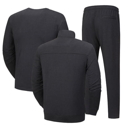 Plain Warm Breathable Zippered Men's Tracksuit