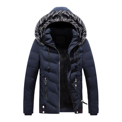 Letter Detachable Hooded Down Jacket