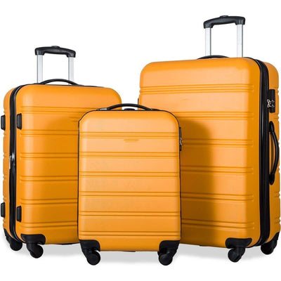 Orange 3 Piece Set Luggage