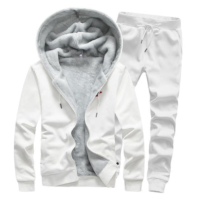 Polyester Extra Thick Drawstring Simplicity Men's Sports Suit