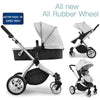 2 In 1 Baby Stroller With Bassinet,Grey