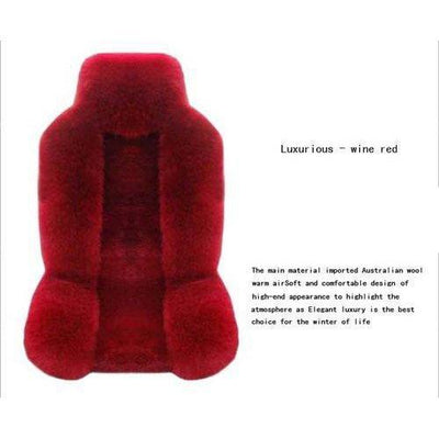 Genuine Sheepskin Car Front Seat Covers