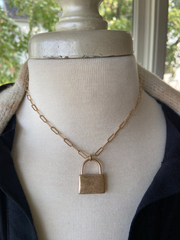 Worn Locket Necklace