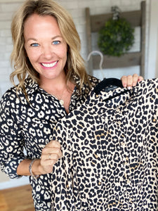 Anya Animal Print Blouse