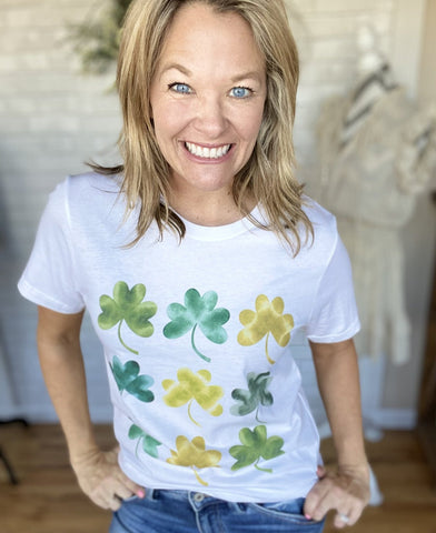 Watercolor Shamrock Graphic Tee