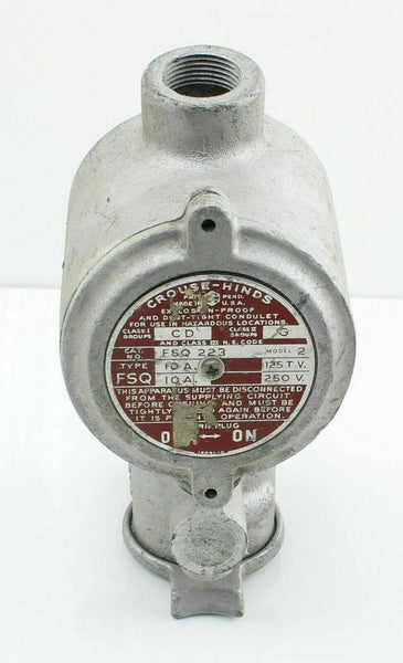 Crouse-Hinds Condulet FSQ223 Explosion Proof Hazardous Area Receptacle Socket