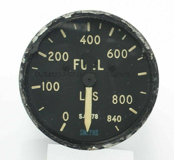 Fuel Indicator Gauge 6A/6857 SF/202HSD/D/CP/2 Smiths Whirlwind RAF RN Aircraft