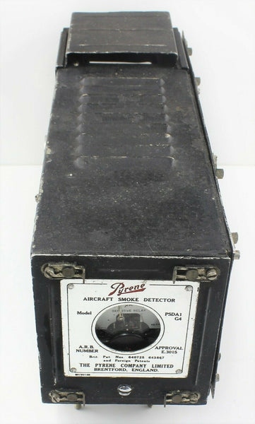 Aircraft Smoke Detector Unit Model PSDA1/G4 27N/0000132 Pyrene Box RAF Vintage