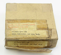 100x Ball Ground -187 DIA N.D. 5C/4572 Bearings Dowty 1953 RAF Vintage Aircraft
