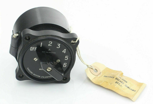 Rotary Switch Selector S.18 5CW/2569 7 Position Sangamo Weston RAF Aircraft