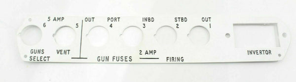 Gun Fuse Panel 79F2362 5 & 2 Amp Metal RAF Vintage Aircraft Spare Part