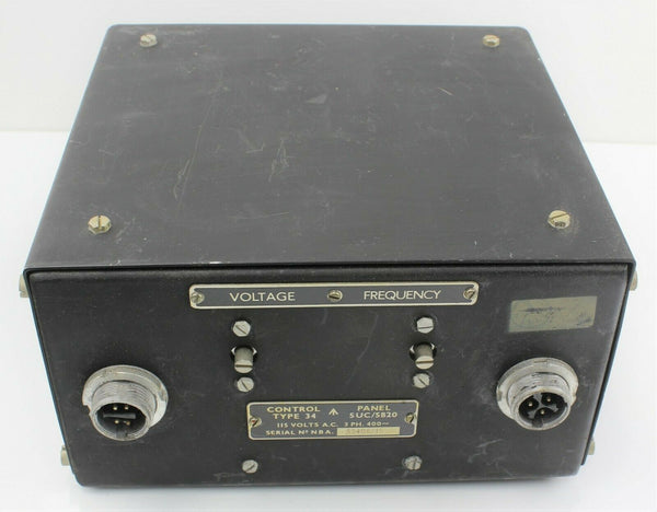Control Panel Type 34 5UC/5820 Box 115VAC 3PH 400~ RAF Vintage Aircraft Part