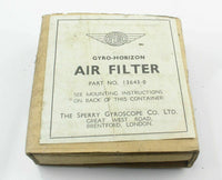 Air Filter Kit Artificial Horizon Gyro Sperry 13643-0 RAF Vintage Aircraft
