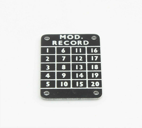 Modification Record Plate Panel Plaque 5D/2352 Metal RAF Vintage Aircraft Spare