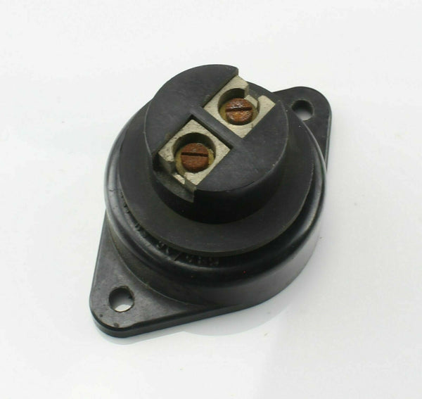 Socket 2 Way 5C/489 RAF Air Ministry Vintage Aircraft Spare Bakelite