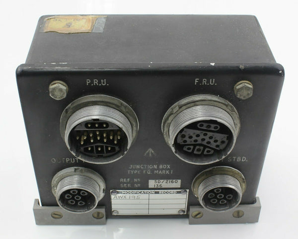 Junction Box Type E.Q. Mark 1 5D/2160 C119971 Armament RAF Vintage Aircraft Part