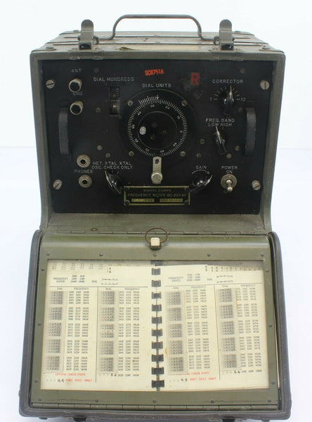 Frequency Meter Set BC-221-AF 29307 PHILA.43 Signal Corps Headphones Ex-Military
