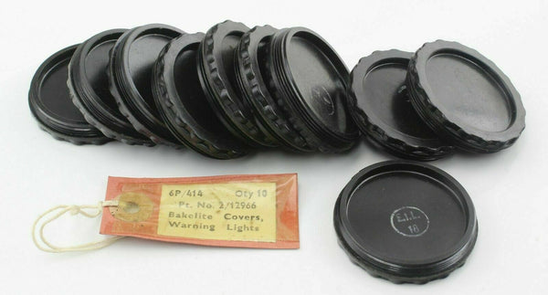 10x Bakelite Cover for Warning Lights 6P/414 2/12966 RAF Vintage Aircraft Part