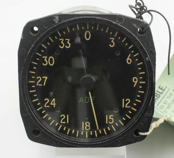Automatic Direction Finder Indicator 9550 10Q/16356 Instrument RAF Aircraft