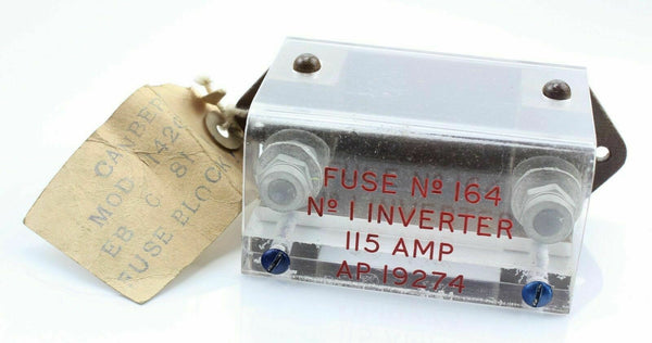 EE Canberra Fuse Block 164 No.1 Inverter 115A AP19274 RAF Vintage Aircraft Spare