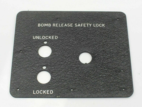 EE Canberra Bomb Release Safety Lock Panel EA9-80-10591/3 RAF Vintage Aircraft