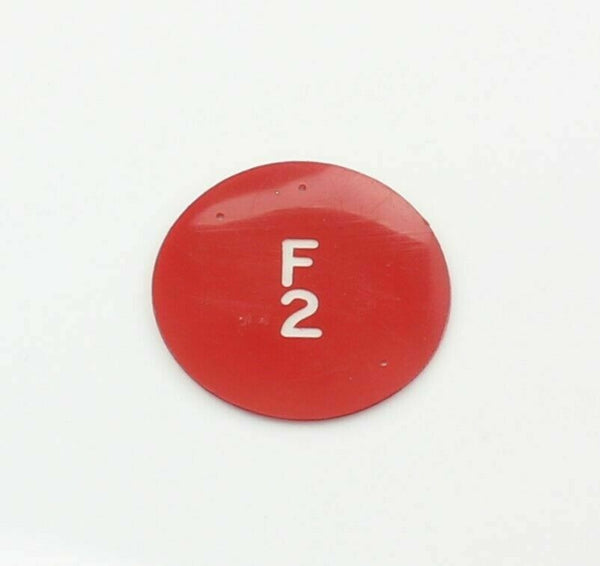 Disc Button Window Cellastoid F.2 Red 5CW/4529 M.B Metals RAF Aircraft Part
