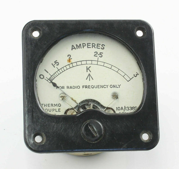 Ammeter 10A/13382 0-3A Gauge Indicator Instrument 1943 RAF Vintage Aircraft Part