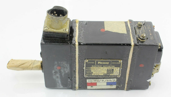 6Electric Actuator 5W/300 Jaguar 25V 44W Plessey RAF Vintage Aircraft Part