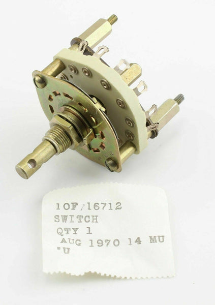 Rotary Switch 10F/16712 Radio Radar RAF Vintage Aircraft Part 1970